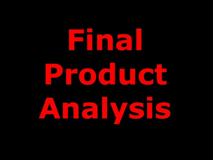 FinalProductAnalysis