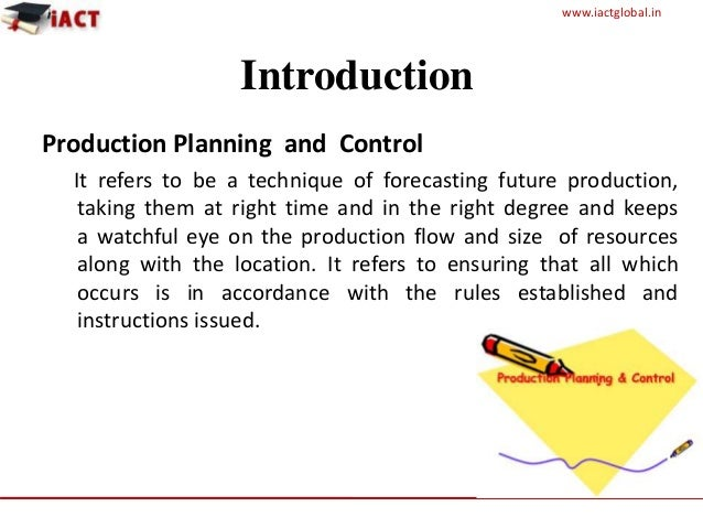 Final production planning and control (1) Slide 2