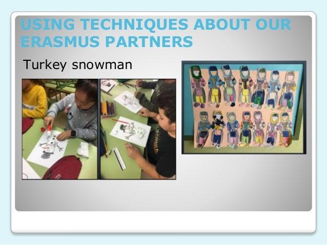 USING TECHNIQUES ABOUT OUR ERASMUS PARTNERS Turkey snowman