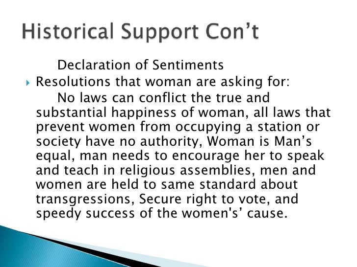 declaration of sentiments essay