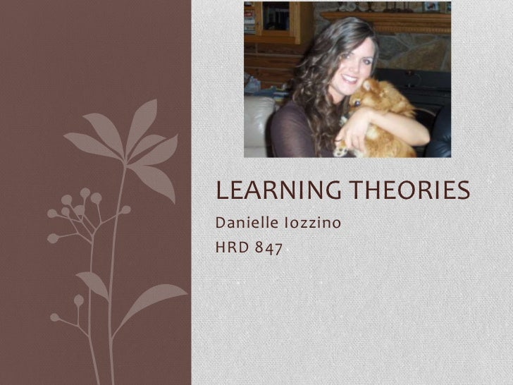 Danielle Iozzino<br />HRD 847<br />Learning Theories<br />