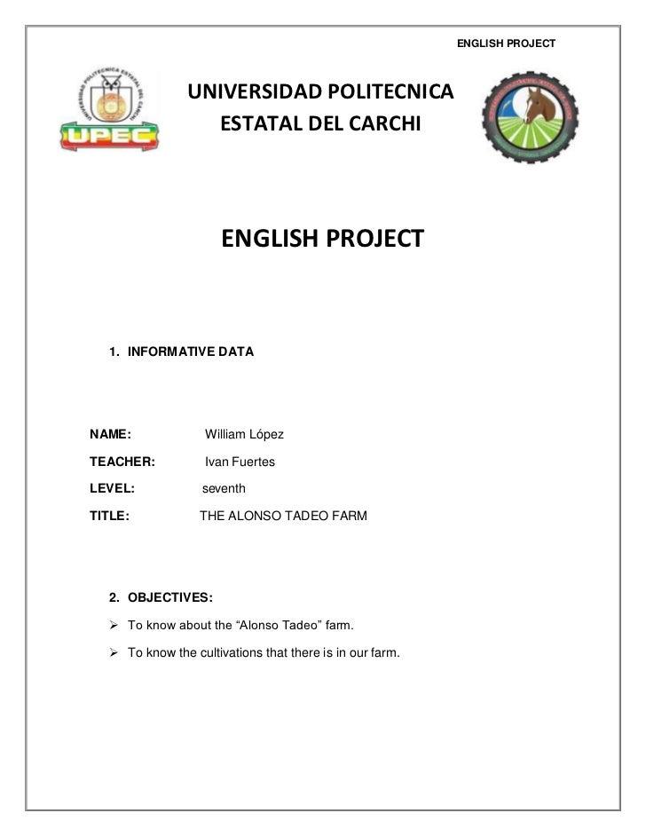 ENGLISH PROJECT                UNIVERSIDAD POLITECNICA                  ESTATAL DEL CARCHI                      ENGLISH PR...