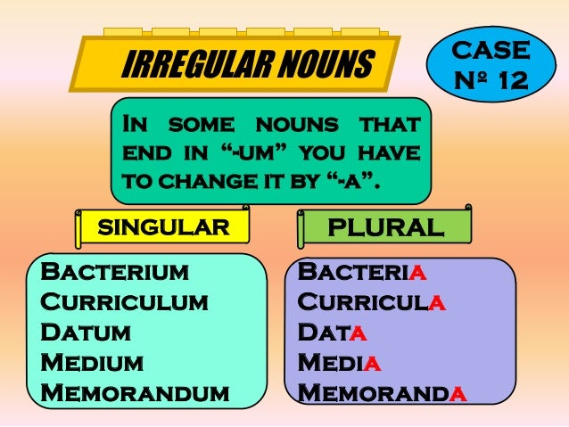 Plural noun forms in English