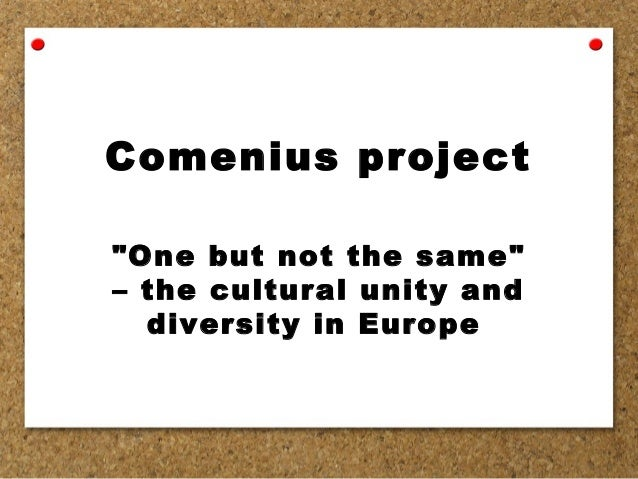 """Comenius project """"One but not the same"""" – the cultural unity and diversity in Europe"""