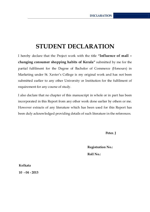 an introduction to the declaration of the students Sample thesis pages  doctoral students do not include the tda in the pdf thesis file use of adobe reader to  chapter 1: introduction.