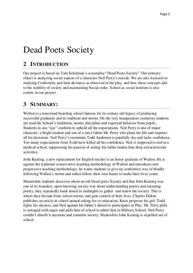 dead poets society essay conclusion