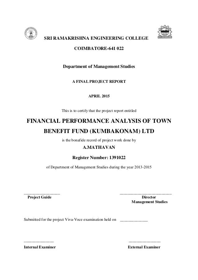 financial analysis project 2015 final final Analysis and valuation of insurance companies  discusses the financial analysis and  while the final section is primarily prescriptive.