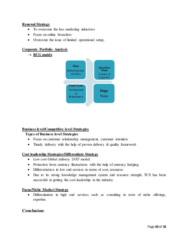 Examples of a Training Strategy