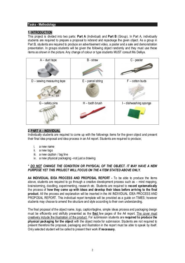 2  Tasks - Methodology  1. INTRODUCTION  This project is divided into two parts: Part A (Individual) and Part B (Group). I...