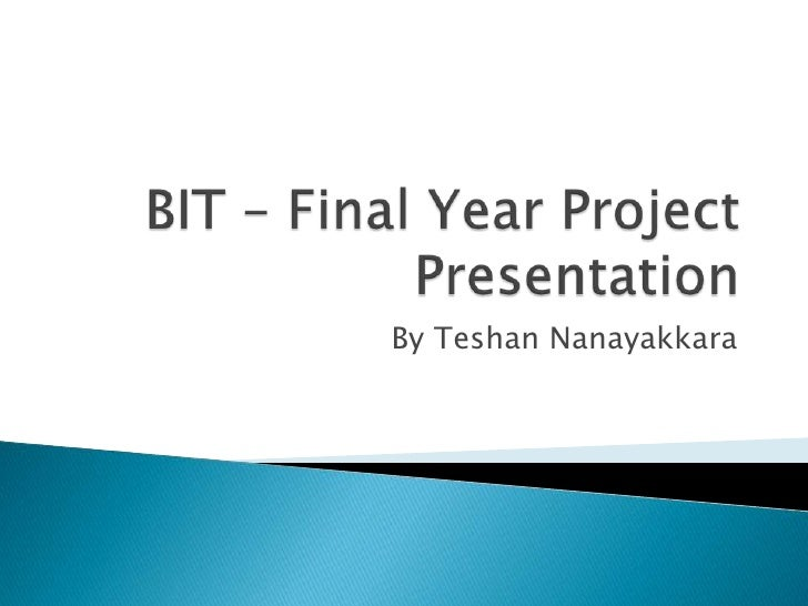 final project personal topics presentation Final year project tips telusko loading unsubscribe from telusko  final year mca, bscit, bca which topic to select for project which language to use for the project.