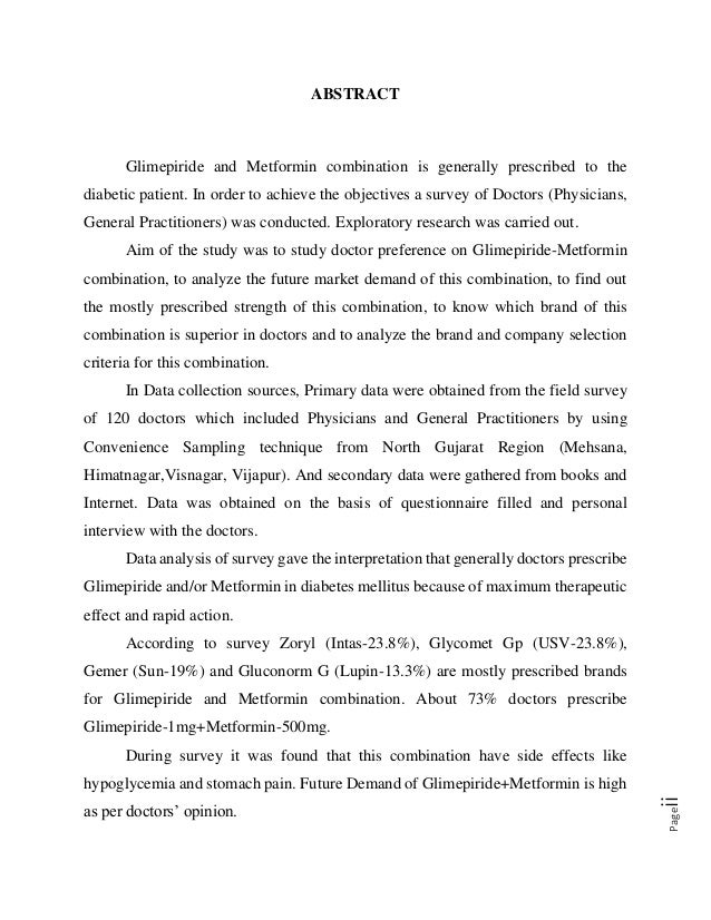 Glimepiride And Metformin Combination Dosage
