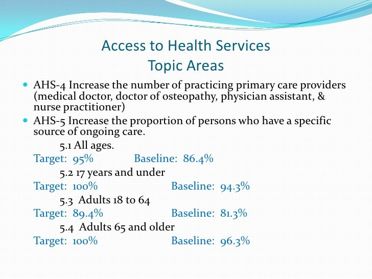 health care accessibility There is no excuse or logic why so many people in the united states remain uninsured or have no accessibility to medical care in a country so rich, with almost unlimited resources as the united states, i fail to understand any excuses that try and explain it.