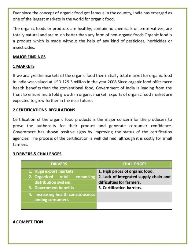 organic food essay thesis Ielts food additives essay look at the thesis statement from the food so food must be clearly labeled and it is my hope that organic products.
