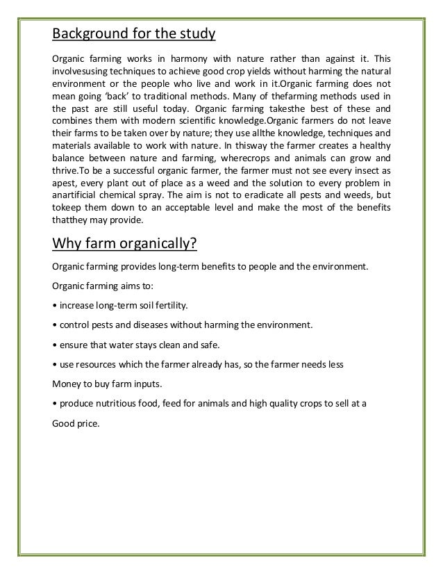 Is Organic Food Really Organic Aims And Objectives