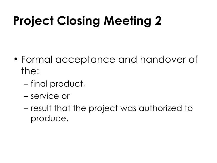 final project closing