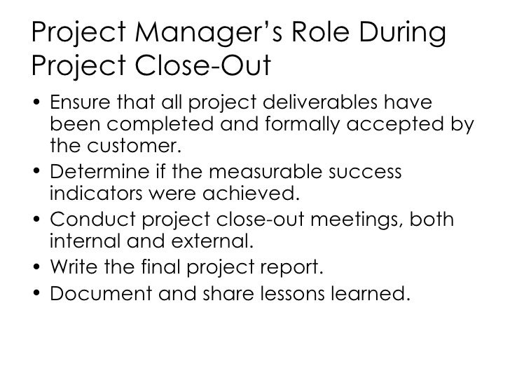 project success factor close out Join oliver yarbrough for an in-depth discussion in this video, critical success factors, part of project management: government projects close out project 2m 42s.