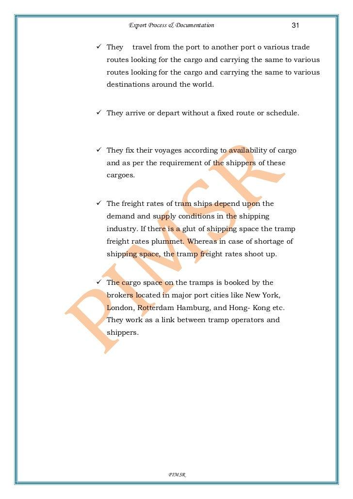 export process and procedure pdf