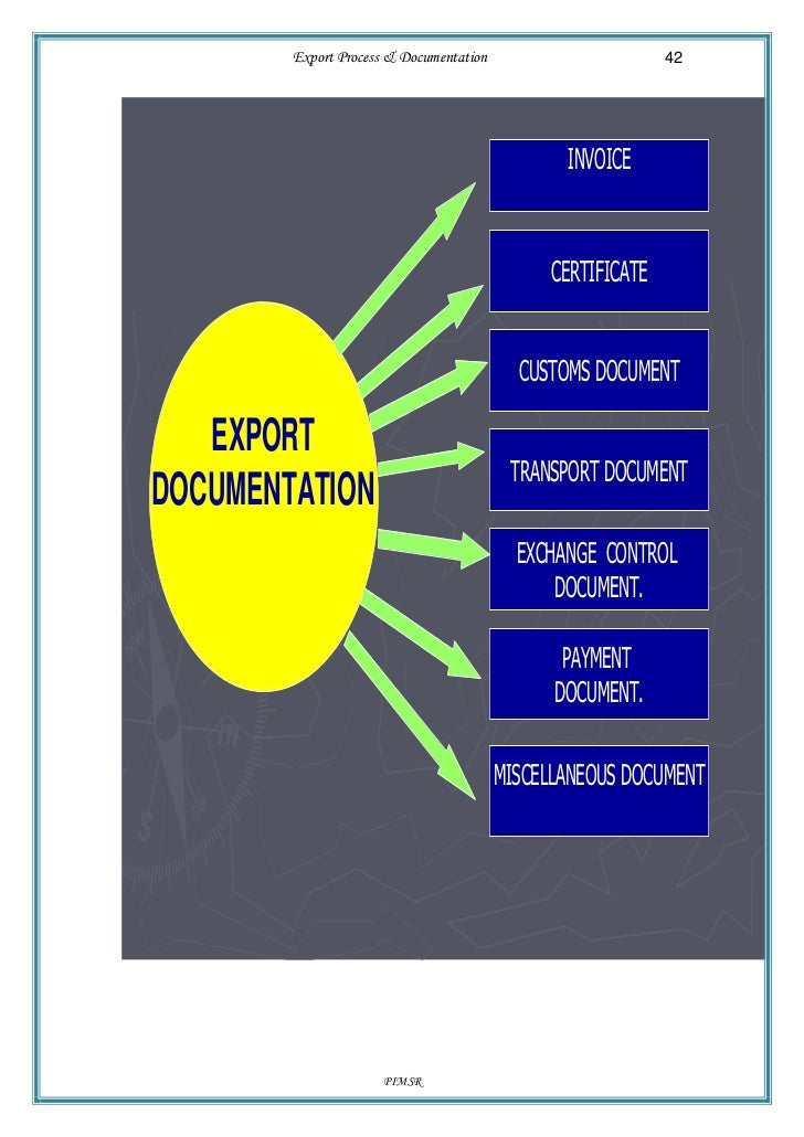 export documentation process Import export document & export order process export order process exporter importer bank in exporters country.