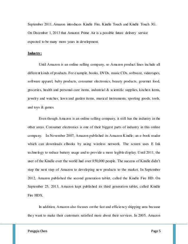 essay about amazon company