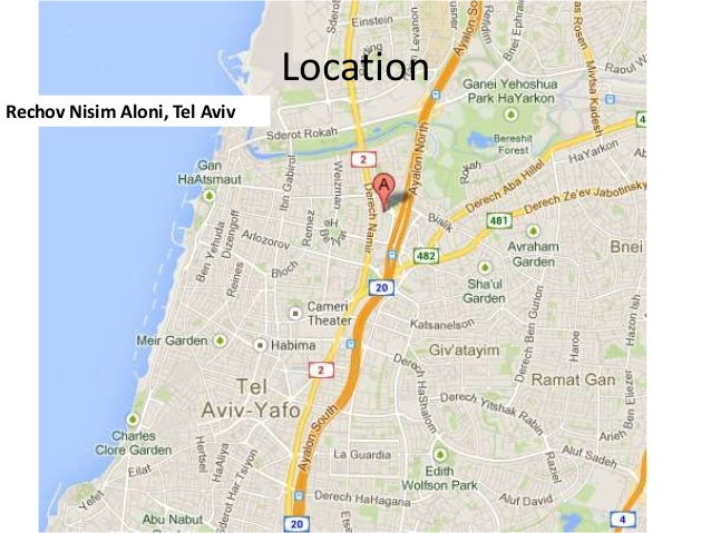 Location Rechov Nisim Aloni, Tel Aviv