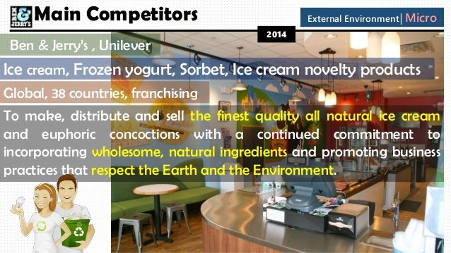 micro environment of ben and jerry ice cream