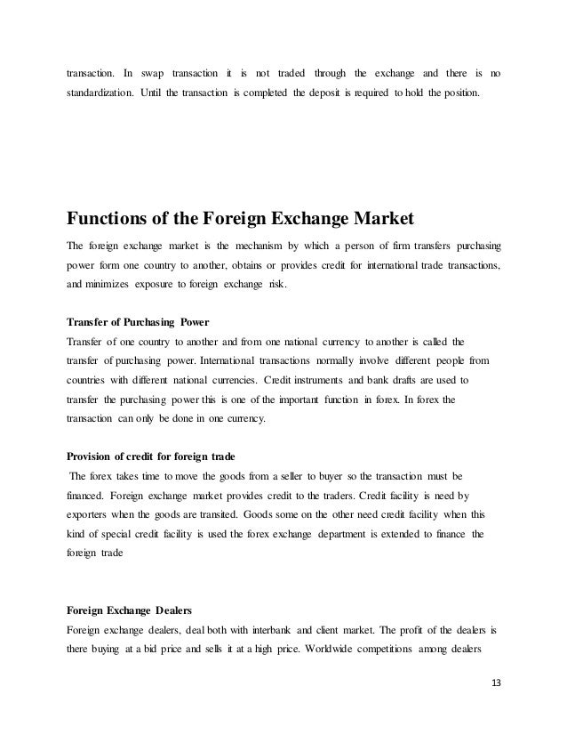 On trainings forex trading project