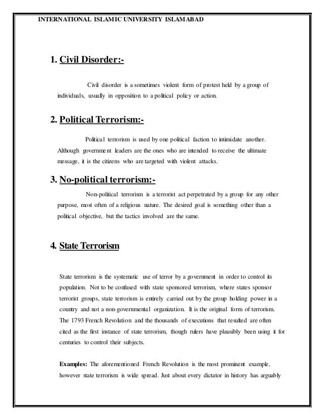 political terrorism examples