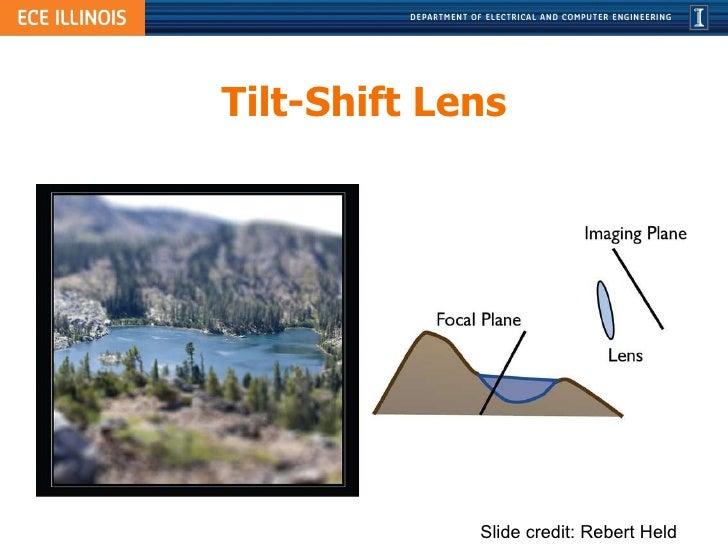 Tilt-Shift Lens Slide credit: Rebert Held
