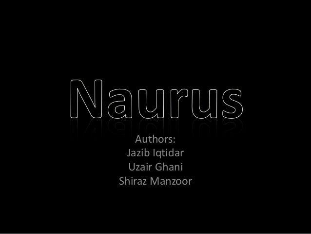 Authors:  Jazib Iqtidar  Uzair Ghani  Shiraz Manzoor