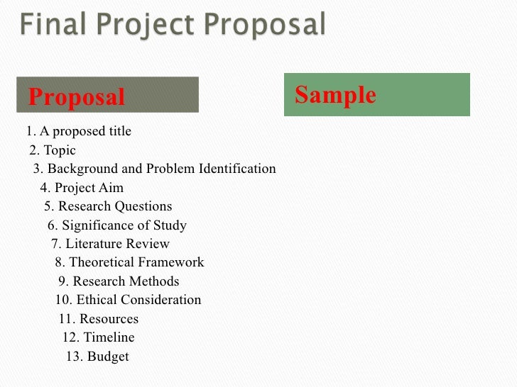 Project Proposal Format Project Proposal Format For Student