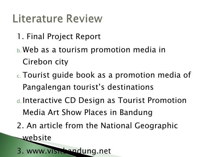 Tourism project proposal