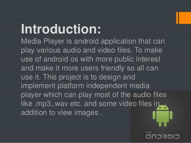 android media player project proposal