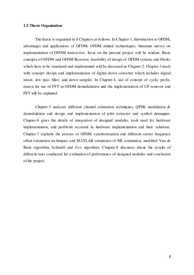 Ofdm channel estimation thesis proposal