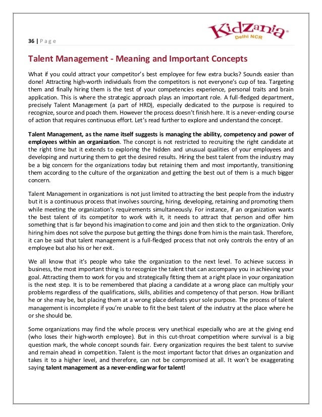a complete project report on talent management Read any business magazine or report on competing and winning in business   whilst talent management is a topic that the hr industry has focused  have  rarely standardised a single process across the whole organisation  a key goal  of nearly every new learning and talent system project nowadays.
