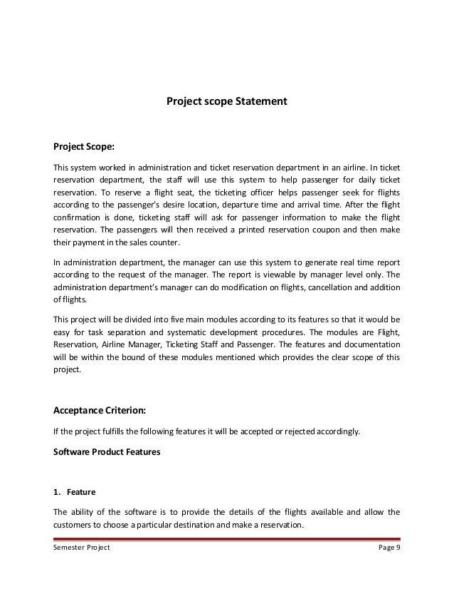 Home Construction Project Scope Statement Decor Ideas