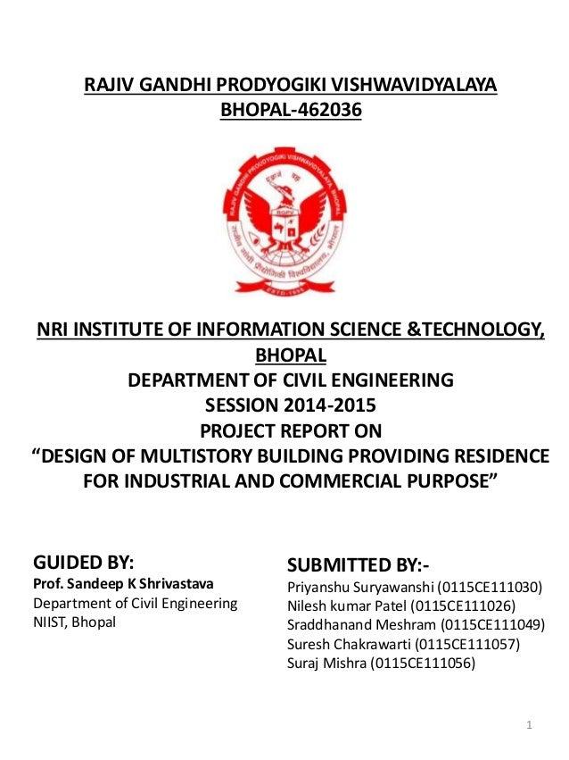 RAJIV GANDHI PRODYOGIKI VISHWAVIDYALAYA BHOPAL-462036 NRI INSTITUTE OF INFORMATION SCIENCE &TECHNOLOGY, BHOPAL DEPARTMENT ...