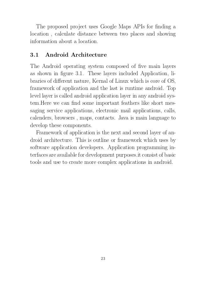 Android Project report on City Tourist Location based ...