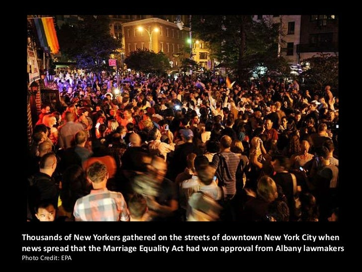 Legalization Of Gay Marriage In Ny