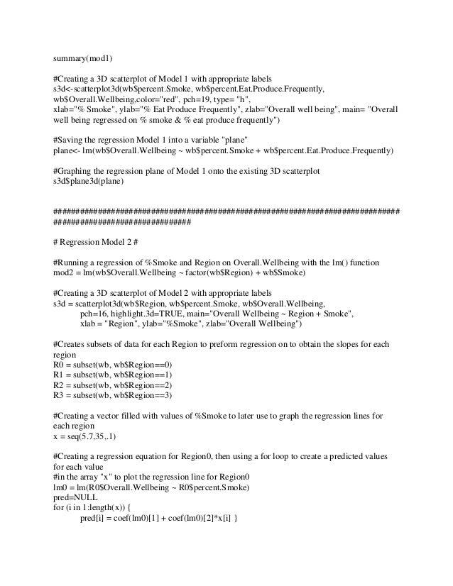 3d scatterplot - r programming, Presentation templates
