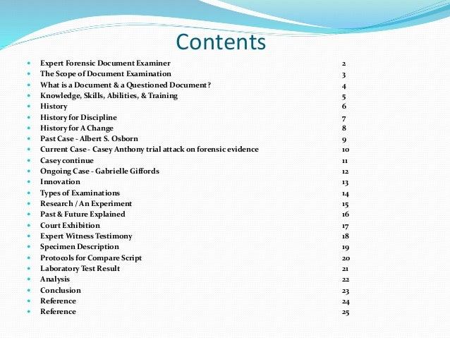 Document Examinar