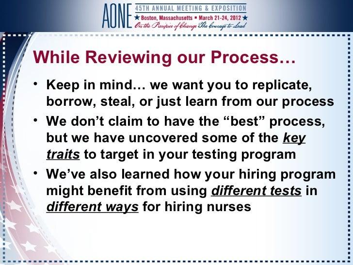 AONE Prophecy Healthcare Presentation 2012