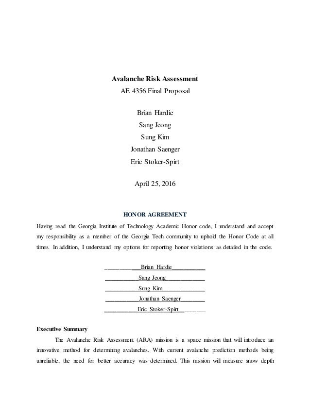 Research Paper on Risk Assessment