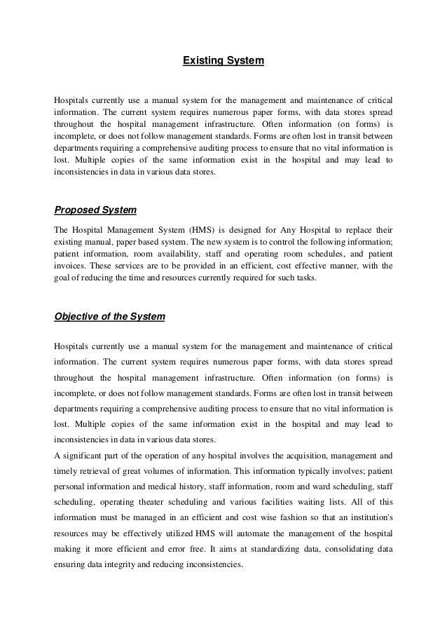 hospital management record system proposal rh slideshare net NV State Administrative Manual Department Administrative Manual