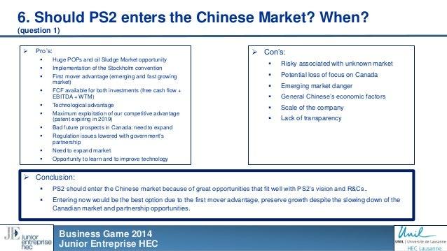 Business Game case study on China - Junior Entreprise HEC - Michel de…