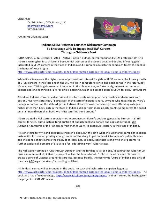 CONTACT:     Dr.  Erin  Albert,  CEO,  Pharm,  LLC     pharmllc@gmail.com     317-‐698-‐3202   ...