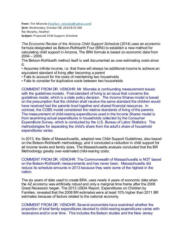 Arizona child support Final public comments – Child Support Worksheet Az