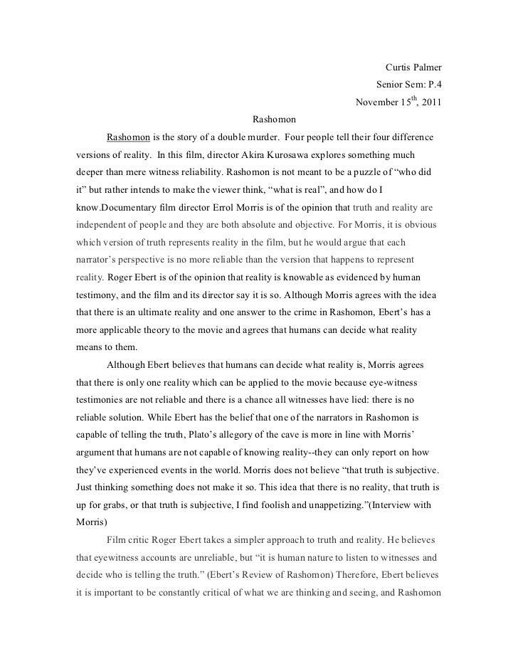 Rashomon effect essay thesis