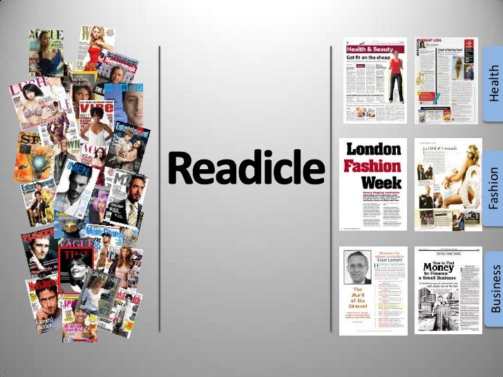 Health<br />Readicle<br />Fashion<br />Business<br />