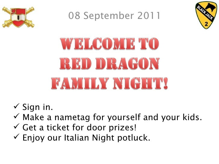 08 September 2011 <ul><li>Sign in. </li></ul><ul><li>Make a nametag for yourself and your kids. </li></ul><ul><li>Get a ti...