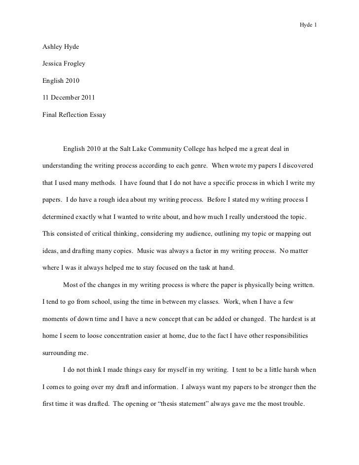Hyde 1Ashley HydeJessica FrogleyEnglish 201011 December 2011Final Reflection Essay       English 2010 at the Salt Lake Com...